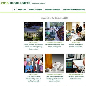 UVM Medical Center Highlights