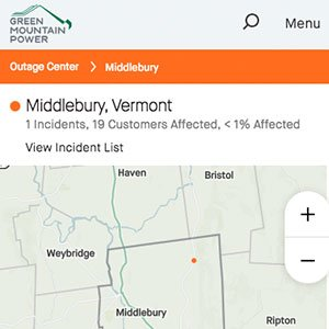 Green Mountain Power Outage Center